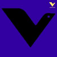 Vasemmistoliiton logo, sininen ja keltainen lintu
